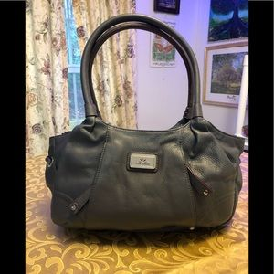 Isaac Mizrahi Grey Leather Handbag